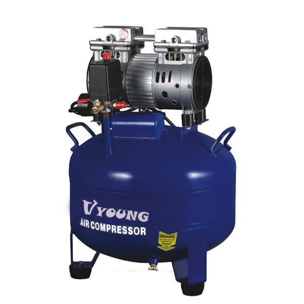 American widely used high quality medium pressure 8 bar mute industrial oil free air compressor for plaster machine