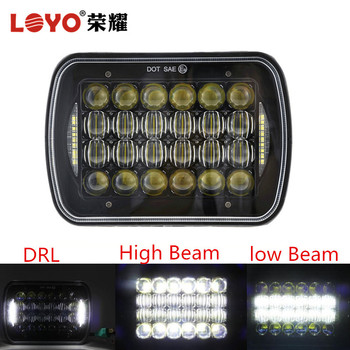 "offroad 7"" 5*7 square led headlamp for Jeep Truck"