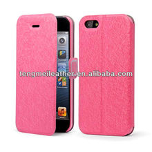 New Feather Silk Series Leather Diary Flip Case Cover Stand For iPhone 4 4S,For Iphone 4 4s Case