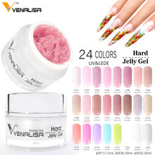 #60950W Venalisa Hard Jelly Gel Nail Art Salon Soak Off UV Camouflage Gel 50ml Extensions Gel