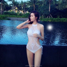 2017 Sweet Sex Photo Handmade Crochet Women Summer Bikini , One Piece Bikini,Sexy Girls Swimsuit