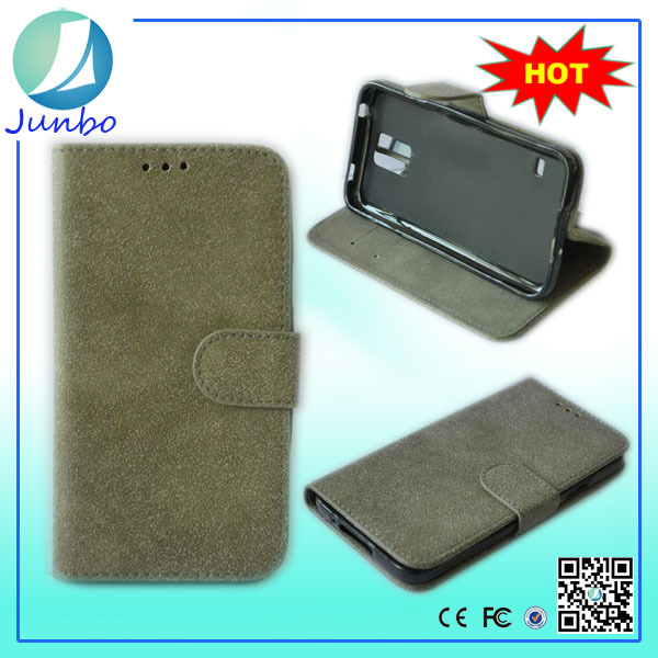 Promotion modest leather cover wallet case for samsung galaxy s1