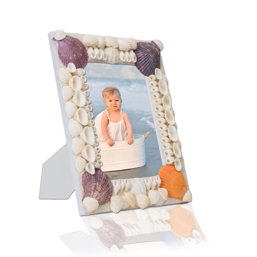 Manufacturer sea shell wooden picture photo frame