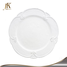 10.5&quot; dinner <strong>plate</strong> embossed lace ceramic dinner <strong>plates</strong> alibaba supplier for wedding and party