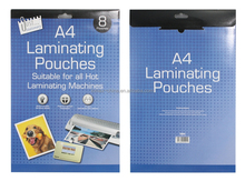 Hot sale A4 glossy thermal laminated pouches