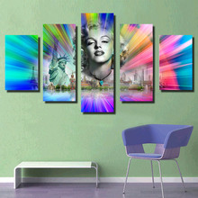 HD colorful picture canvas prints sexy girl &animal for background wall decor