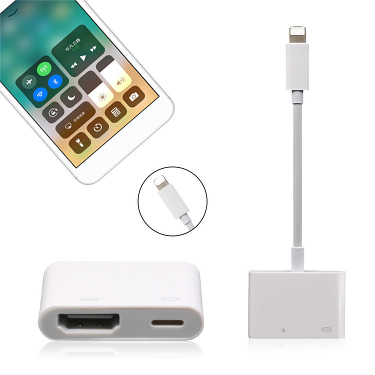HDTV TV Cable Adapter Converter Digital AV adapter For iPhone X 8 7 6
