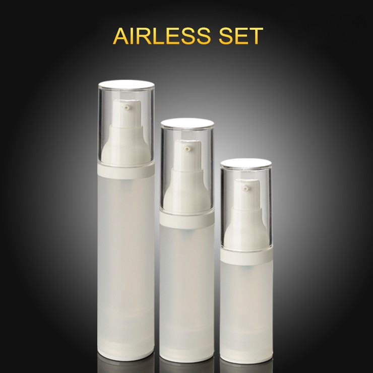 (KZ01)20ML PP Airless Pump Bottle Frosted White