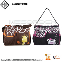 Fashion design wholesale multifunctional cotton custom mommy diaper bag