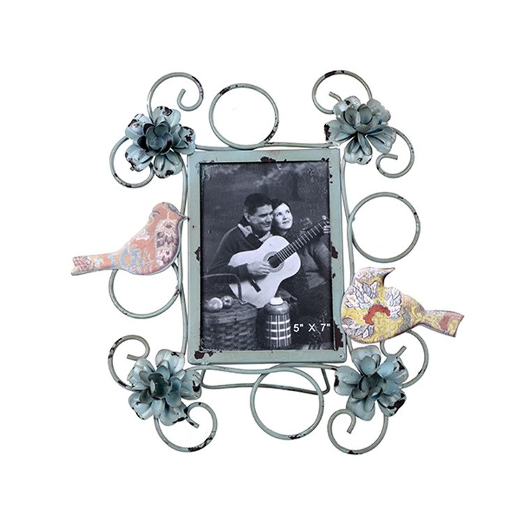 5x7 inch latest design ornate funny love iron flower photo frame
