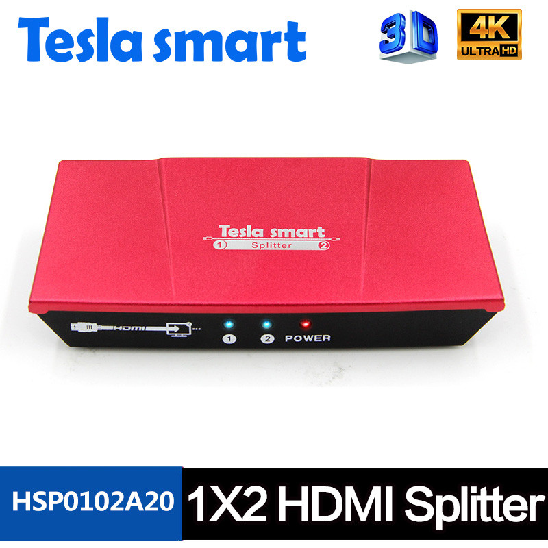 HDMI Splitter 4k Video HDMI Switch 1X2 Splitter 1 in 2 Out Amplifier Display For HDTV DVD PS3