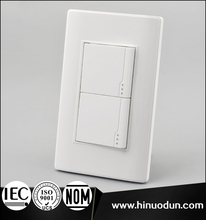 118B-03 15A 127V high quality fashion style white plate oem modern wall switch two button light switch