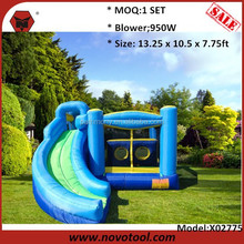 13.25 x 10.5 x 7.75ft Dimension 400Lbs Loading Heavy Duty 420D Oxford Large Giant Inflatable Water Slip Slide