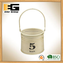 Mini Sand Bucket Balcony Garden Hanging Pail Metal Flower Pots