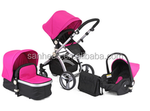 High quality 3 In 1 Baby stroller Travel System , New Baby pram 3 in 1 with reversable seat,baby pushchair