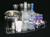 Acrylic Tray, Shot glass Tray, Bottle Rack, Glass Rack