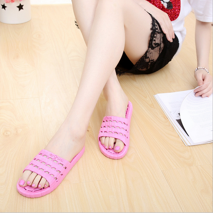 2017 Hot selling Soft anti slip washing room slipper Indoor house slipper