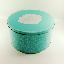 Biscuit storage metal round tin box