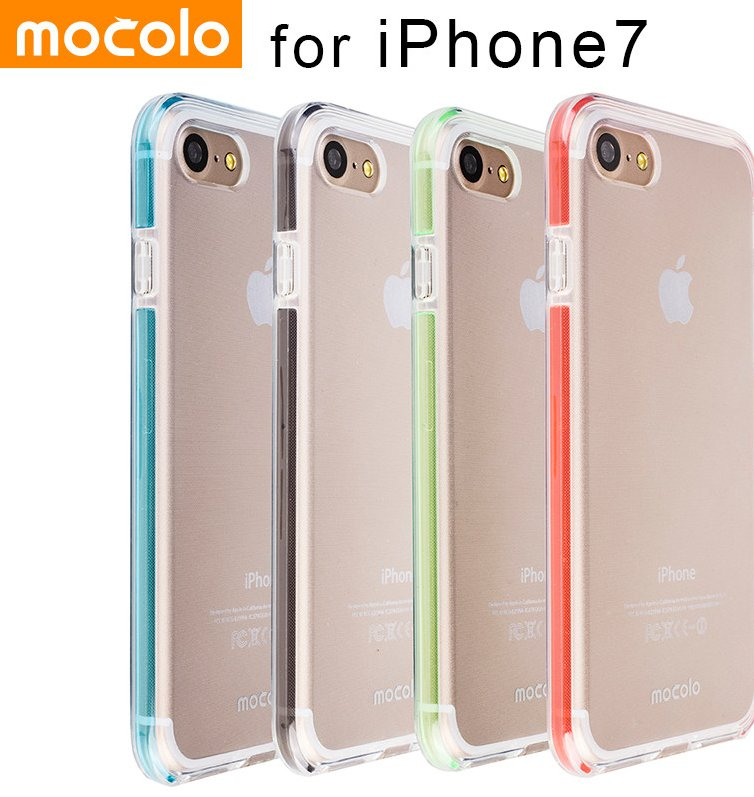 Mocolo for iPhone 7 Case Clear TPU Cover Case Soft LED Shiny Colorful Case