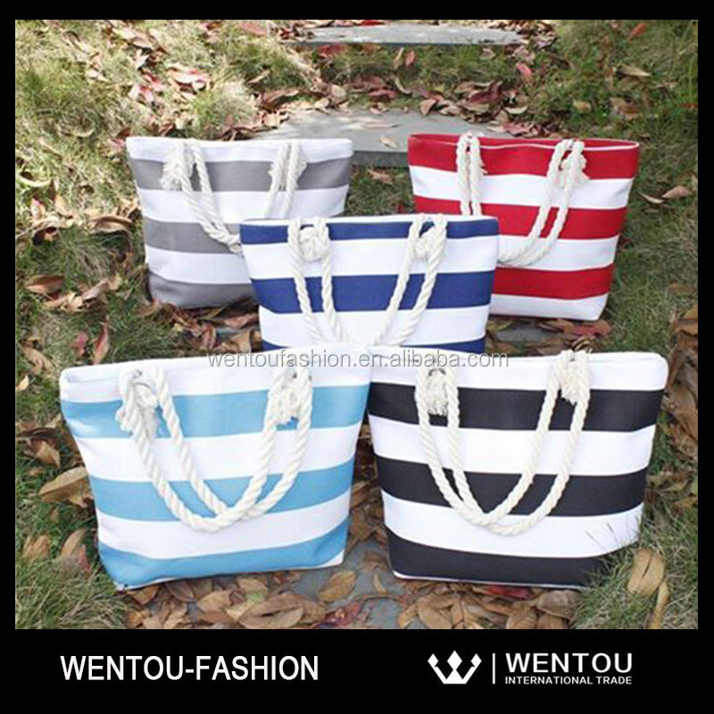Wholesale Canvas Heavy Striped Tote Bag