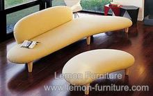 Hot sale Free Form fabric sofa half moon sofa with ottoman