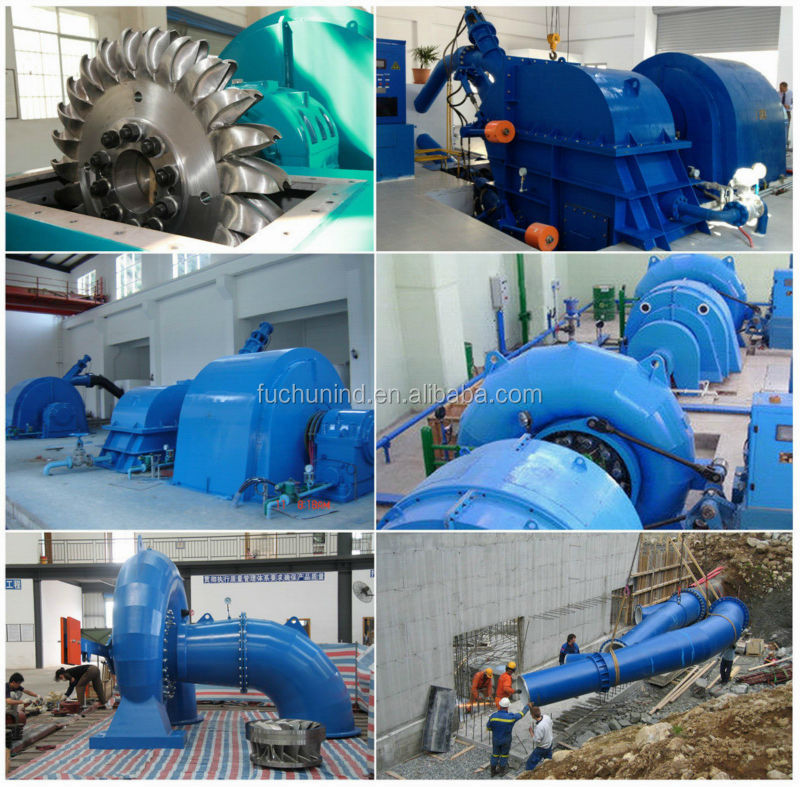 small hydro power plant/ water turbine generator unit