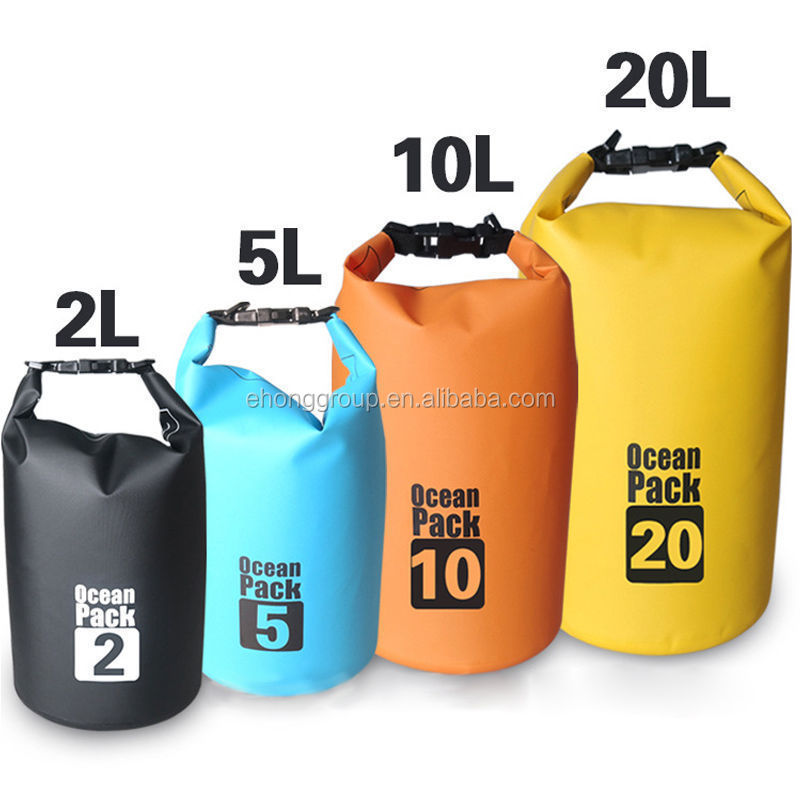 custom Logo waterproof bag backpack dry bag sack tarpaulin drybag 2L-45L