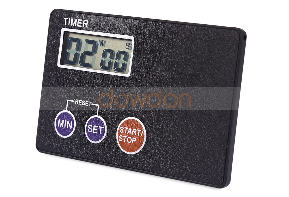 LCD Ultra thin Study Rest Kitchen Cooking Countdown Pocket Kitchen Timer
