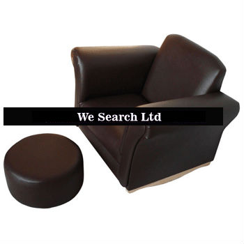 2013 Kids leather sofa and ottoman