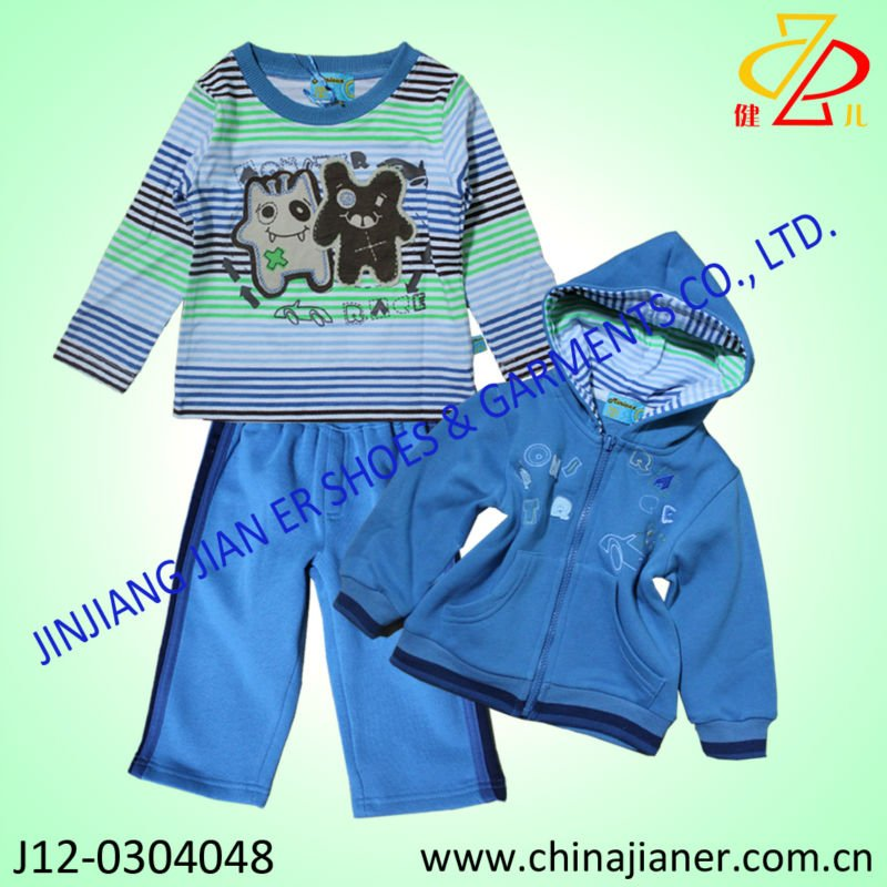 cotton baby children clothes,pants,hoodie blouse, 3pcs suit set