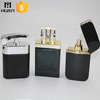square shape black perfume bottle,empty crystal perfume bottle,waist curve black crystal perfume bottle