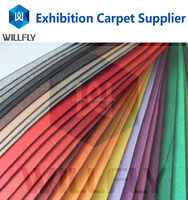 Popular professional nonwoven camel colour carpet