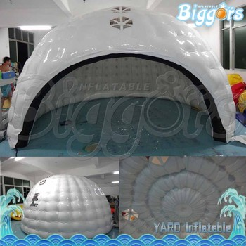 Strong Safety Half Round Soccer Inflatable Tent For Outside Party