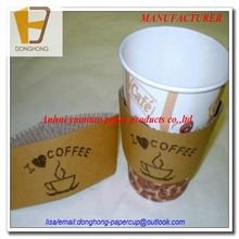anhui factory hot sale bottom price black paper coffee sleeve cup