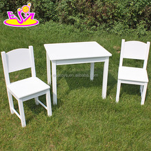 2016 new design home / school / kindergarten white kids wooden table and chairs W08G145