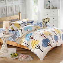 Home textile,Reactive Print 4Pcs fancy designer handmade bed sheets cotton bed sheets in china