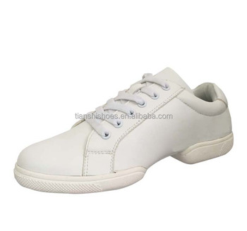 Genuine Leather Dance Sneaker Split Sole Fashion Jazz Shoes Extra Suede Pading at Sole 8603