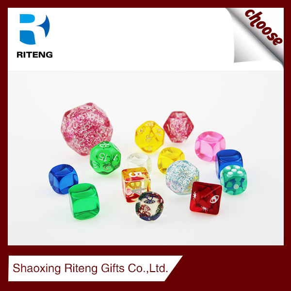 high quality plastic rpg dice