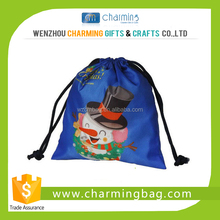 Custom printed reusable drawstring bag