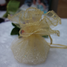 30cm diameter Round Organza Wedding Gift Bags with Ribbon Drawstring