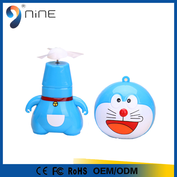 2016 summer hot selling mini fan cartoon for office and travel