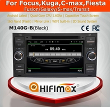 Hifimax Android 4.4.4 For Focus/Kuga Car DVD GPS Navigation For Ford Transit(2006-2011)For Ford Fiesta(2005-2008) Car Multimedia