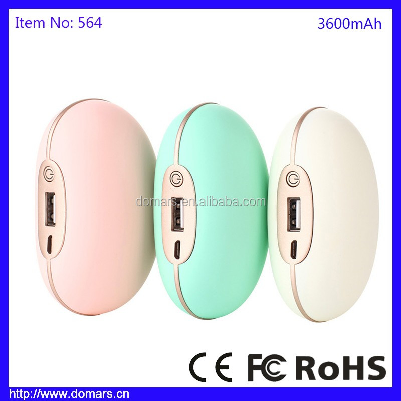 Winter Promotion Gift Peas Hand Warmer Power Bank 3600mAh