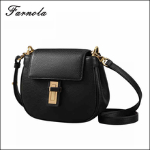 Lady luxury design lady's messenger bag fashion leather mobile phone cross body bag