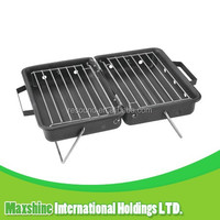 Outdoor barbecue grill in car, charcoal square grill