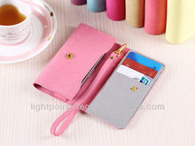 wallet leather case for iphone 5 with 3 card slots wallet card-slot leather cell mobile phone case wallet leather case