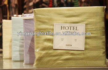 100% cotton hotel sateen bed sheeting fabric