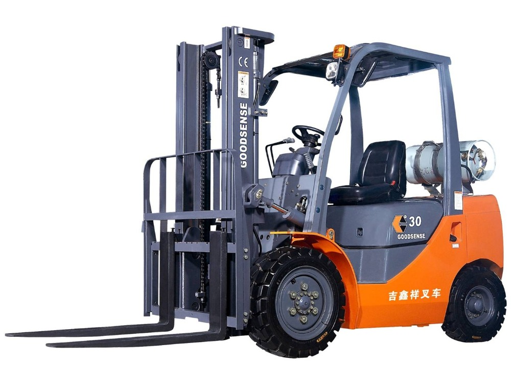 material handling equipments four wheels natural gas 3t forklift truck