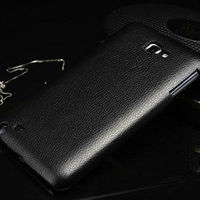 New 2013 hot selling fashion design high quality genuine leather hard back case cover for samsung galaxy note n7000 i9220