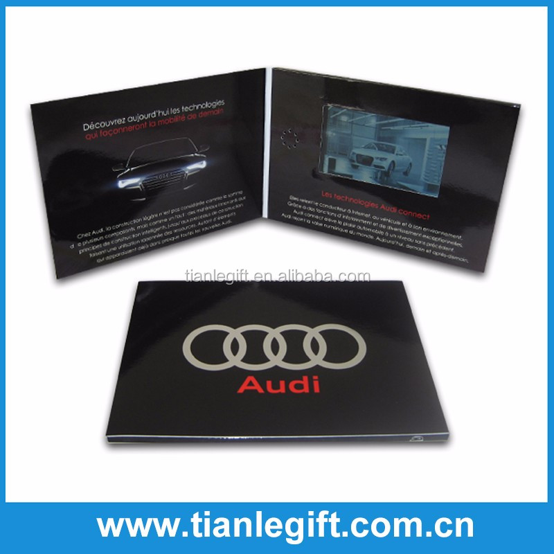 Multifunction lcd video brochure card